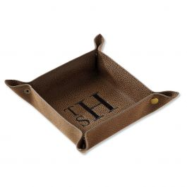 Personalized Brown Valet Tray