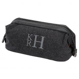 Grey Personalized Shave Kit - Stacked Monogram