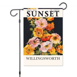 Iceland Poppies Personalized Garden Flag