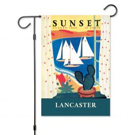 Succulent View Personalized Garden Flag