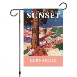 Park In Bloom Personalized Garden Flag