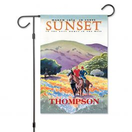 Horses In The Hills Personalized Garden Flag