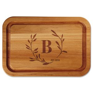 Circle Laurel Personalized Cutting Board