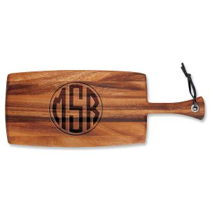 Monogram Circle Paddle Personalized Cutting Board
