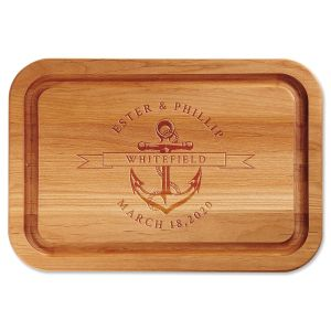 Alder Anchor Personalized Wood Cutting Board