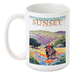 Horses in the Hills Personalized Mug