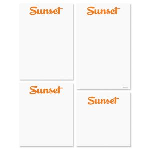 Sunset Logo Memo Pad Set