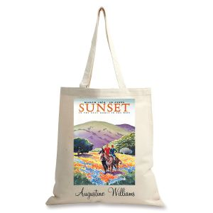 Horses in the Hills Personalized Canvas Tote