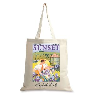Iris Gardening Personalized Canvas Tote