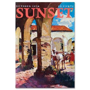 Sunset Magazine Poster: October 1934 - California Rancho