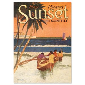 Outrigger Beach Personalized Greeting Cards