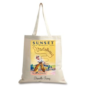 Cowboy Roper Personalized Canvas Tote