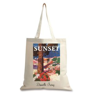 Park In Bloom Personalized Canvas Tote