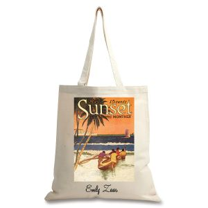Outrigger Beach Personalized Canvas Tote