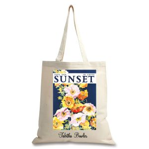 Iceland Poppies Personalized Canvas Tote