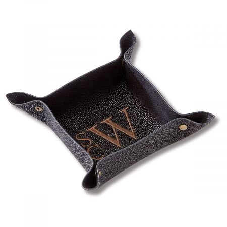 Personalized Black Valet Tray