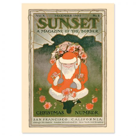 Santa December 1902 Personalized Christmas Cards