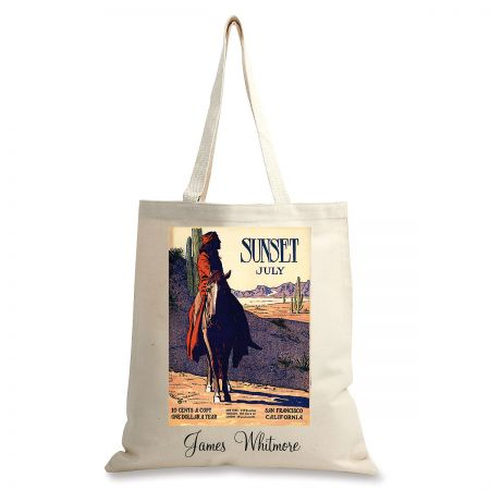 Desert Rider Personalized Canvas Tote