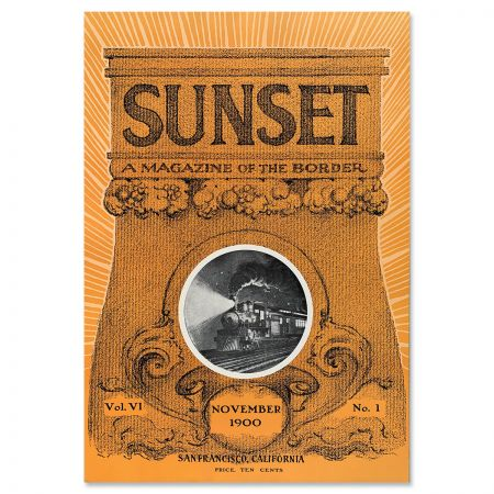 Sunset Magazine Poster: November 1900 - Train
