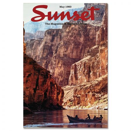 Sunset Magazine Poster: May 1983 - Colorado River, Grand Canyon