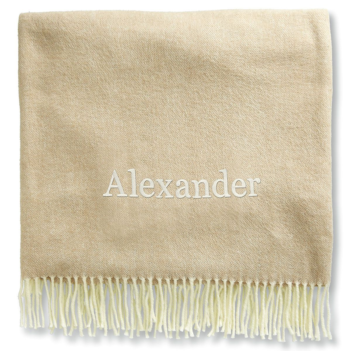 Personalized Blanket with Name-Khaki-816104A