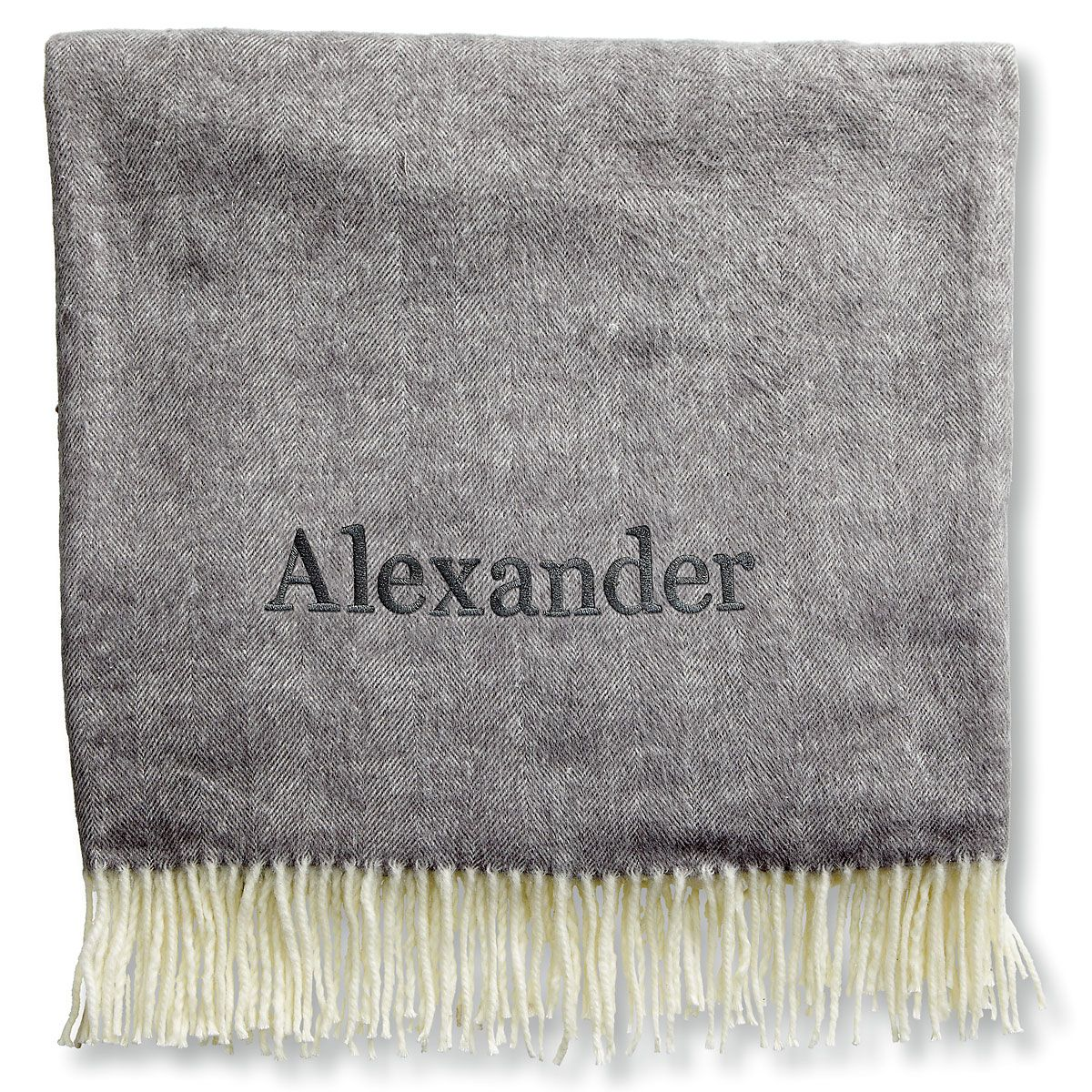 Personalized Blanket with Name-Gray-816104B