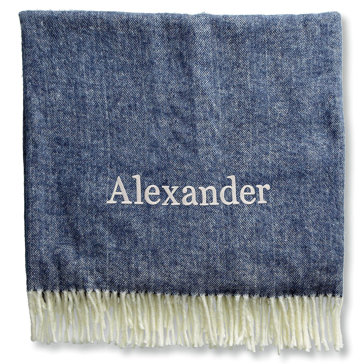 Personalized Blanket with Name-Navy-816104C