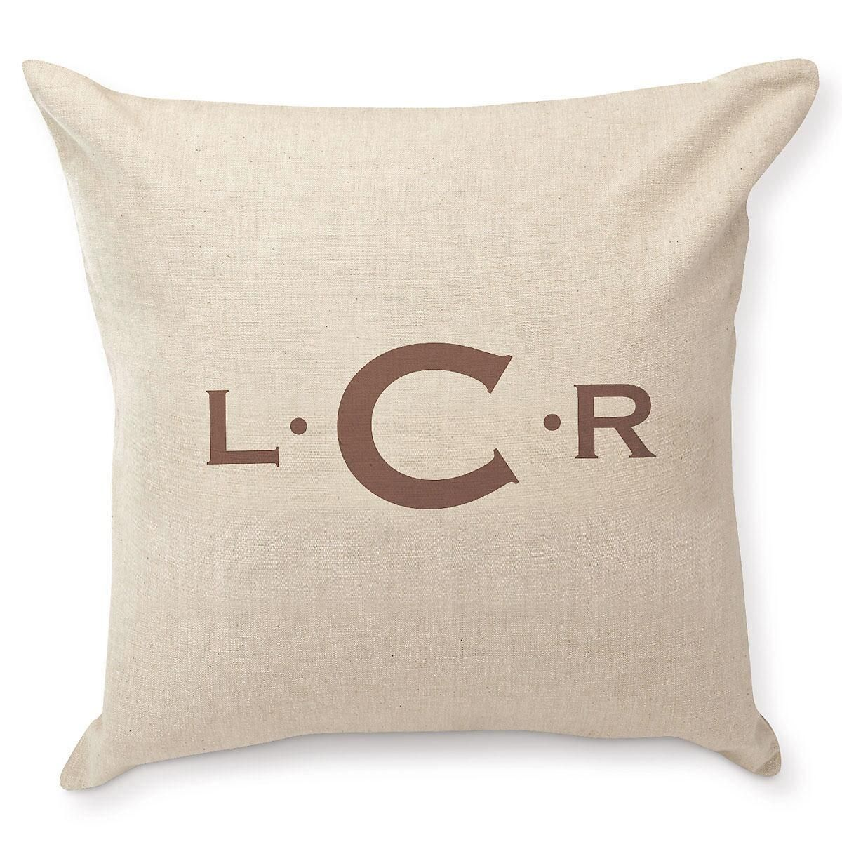 Initials with Dots Pillow