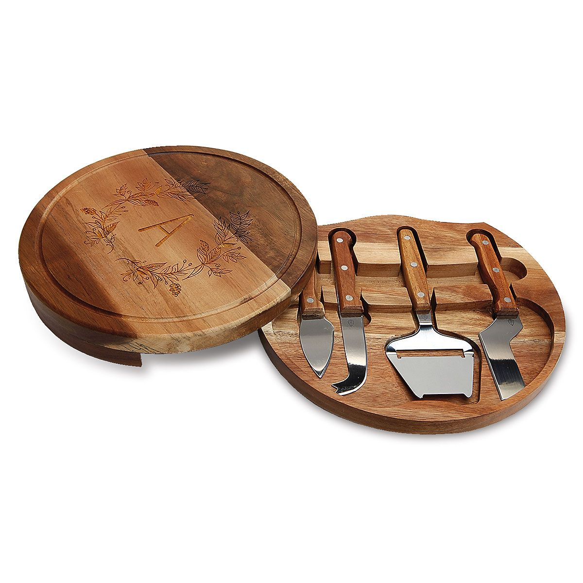 Acacia Cheese Board Personalized Set