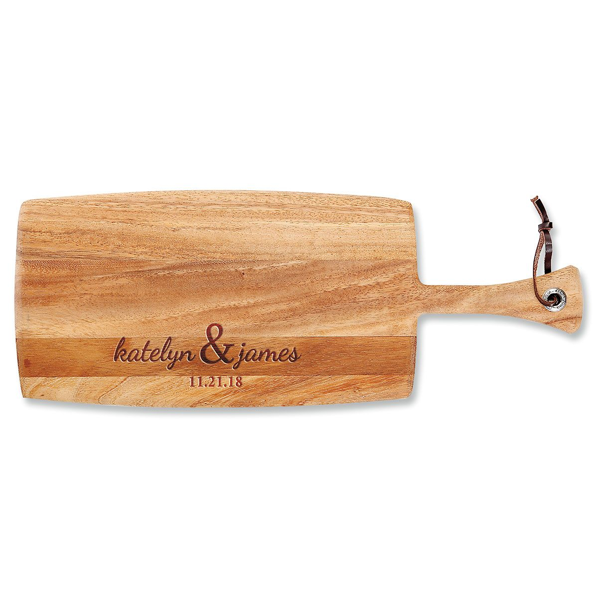 Couples First Paddle Personalized Cutting Board