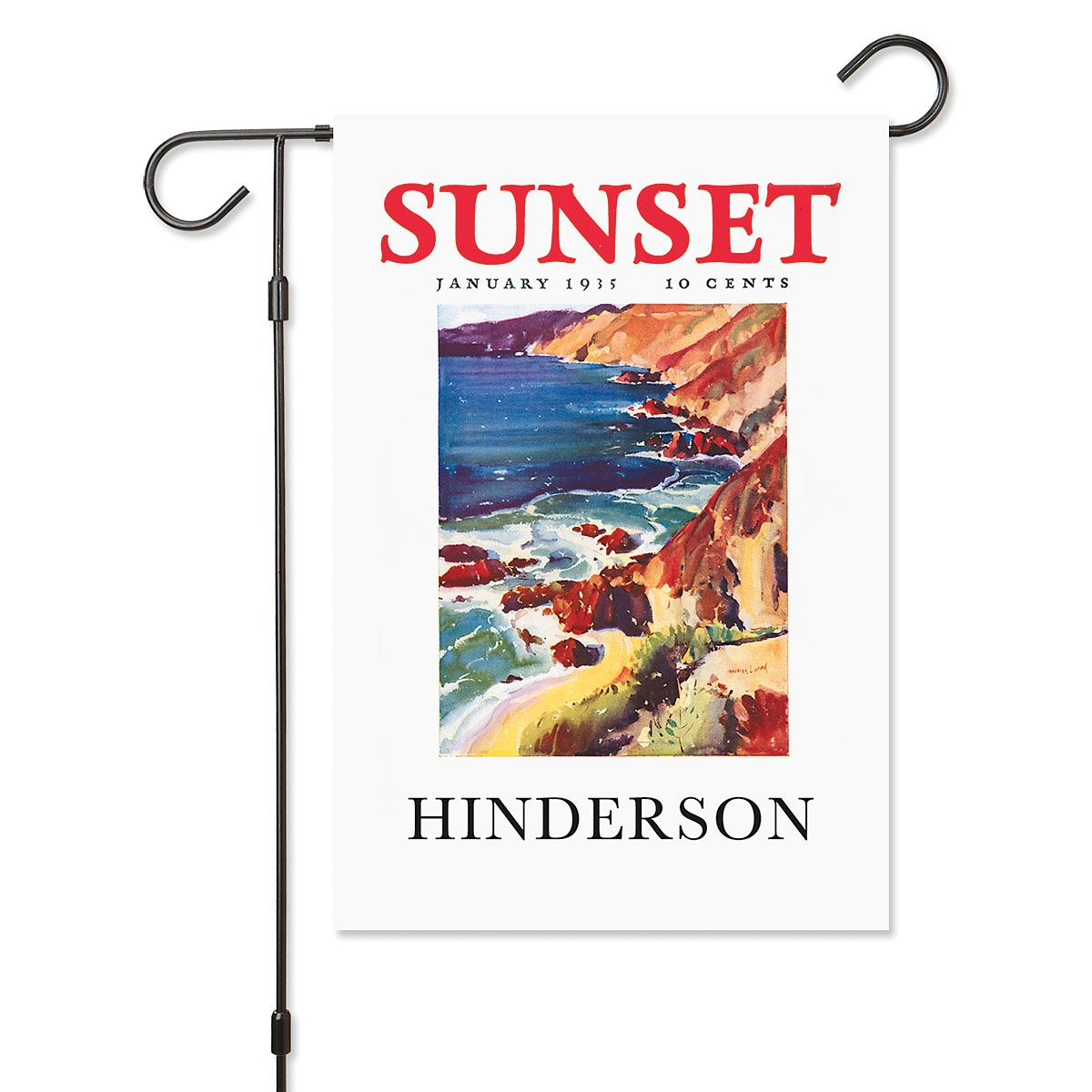 Coastal Splendor Personalized Garden Flag