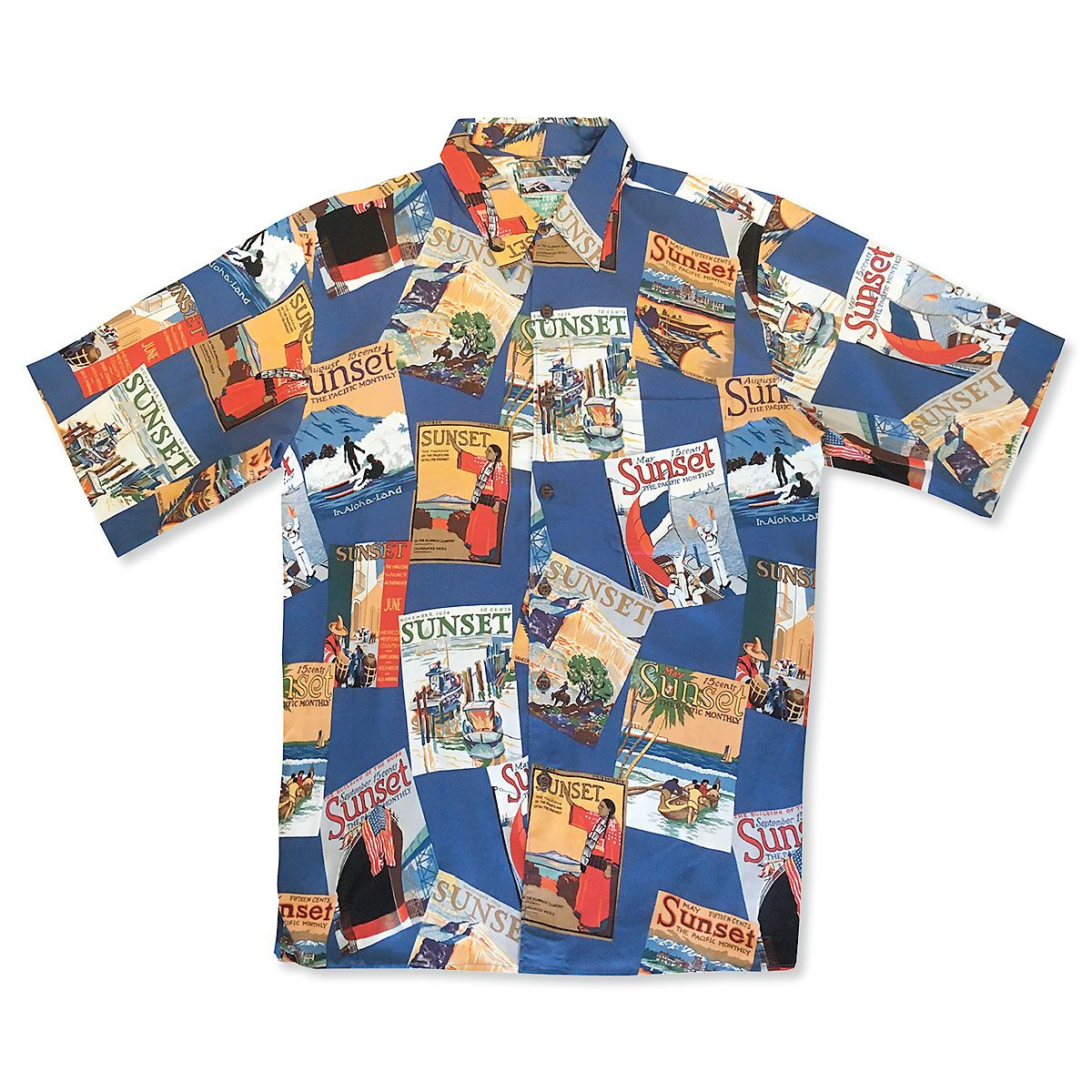 Large Blue Hawaiian Shirt