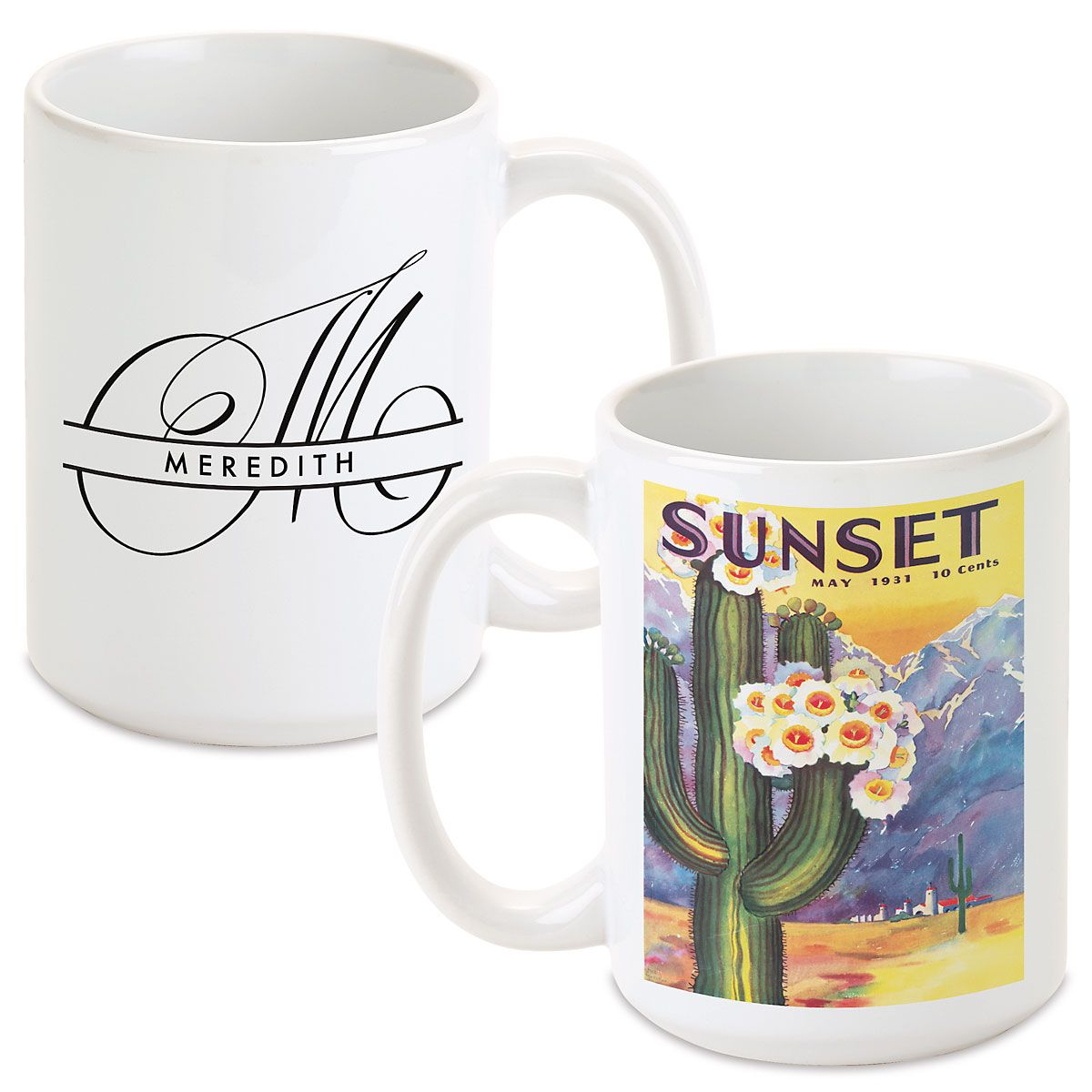 Cactus Bloom Personalized Mug
