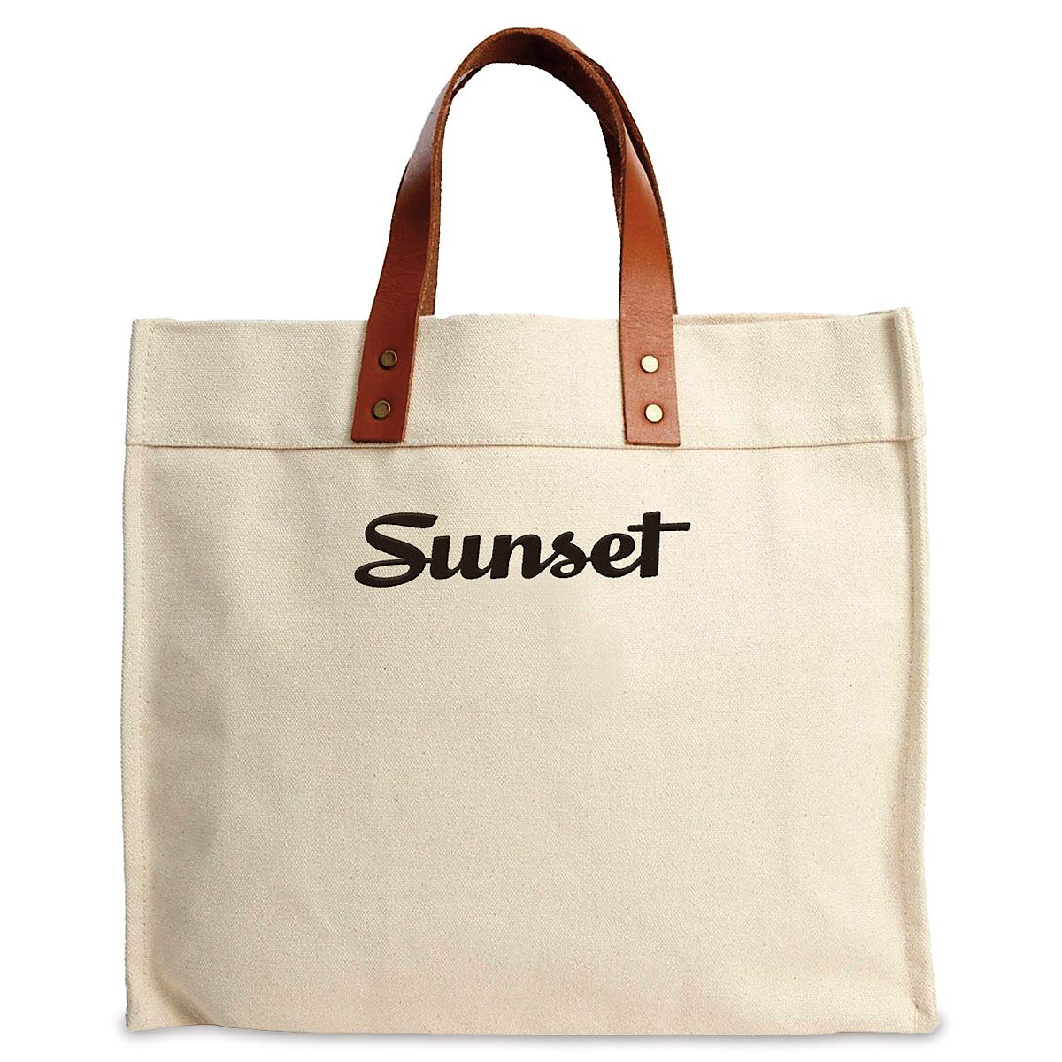 Black Logo Signature Canvas Tote
