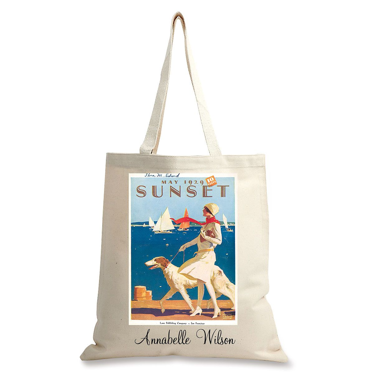 Dog Walking Personalized Canvas Tote