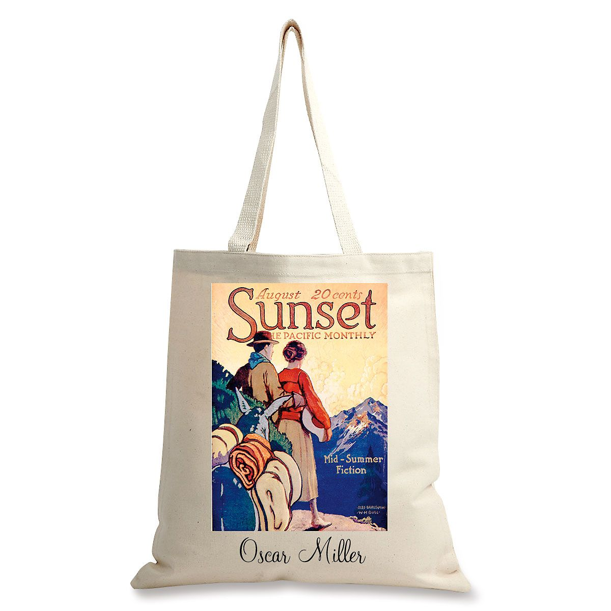 Mountain Pass Personalized Canvas Tote