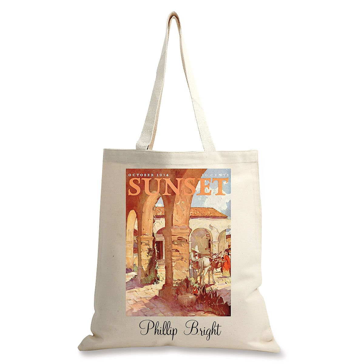 The Mission Personalized Canvas Tote