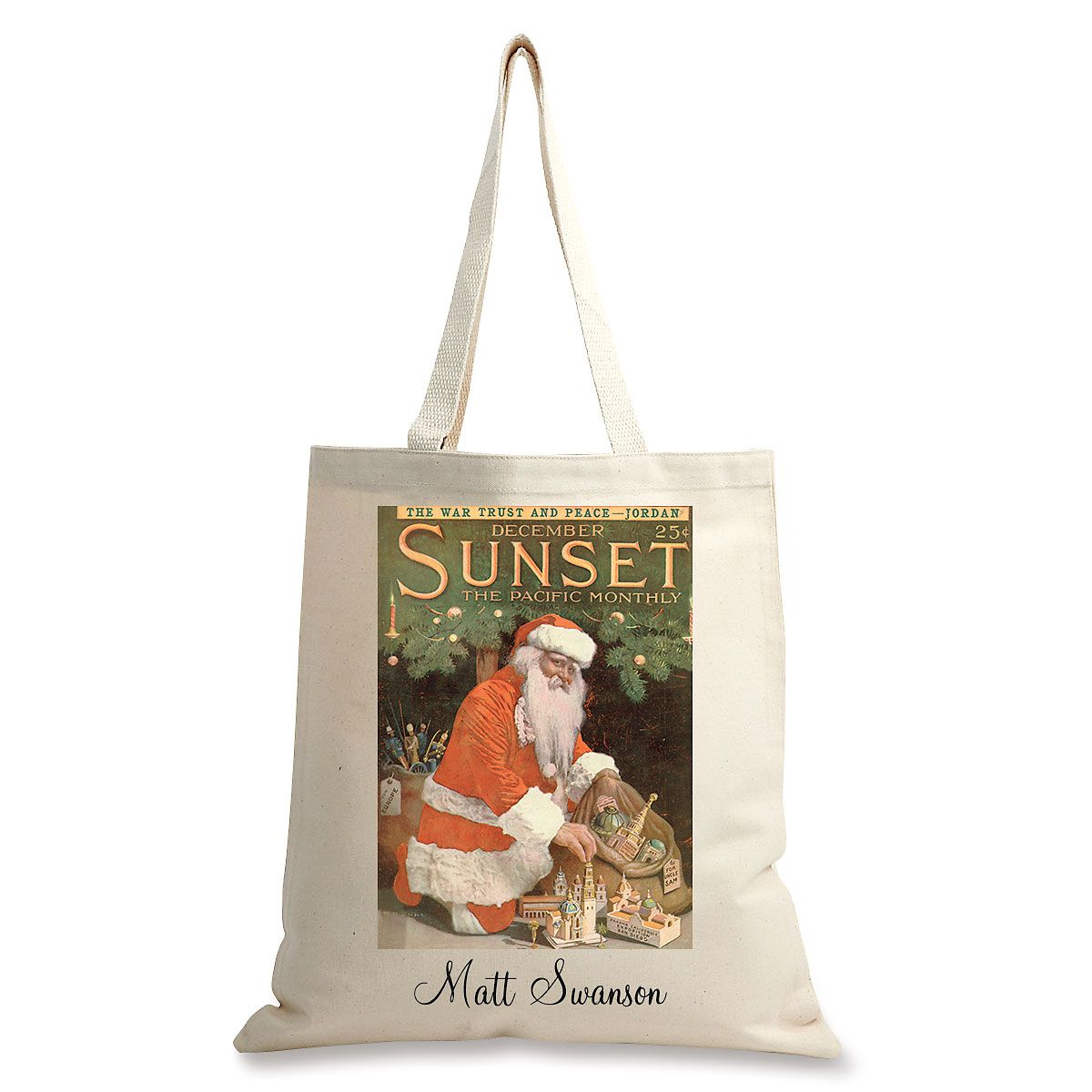 December 1914 Personalized Canvas Tote