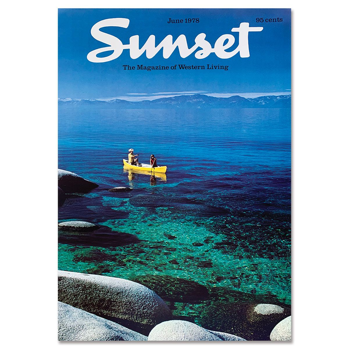 Sunset Magazine Poster: June 1978 - Lake Tahoe
